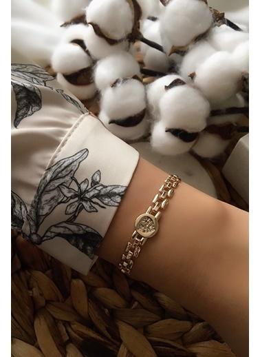 My Joyas Design Zirkon Taşlı Kalp Bileklik Altın